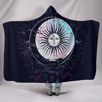 Boho Sun and Moon Hooded Blanket