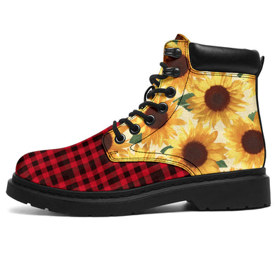 Sunflower Buffalo Plaid All-Season Boots