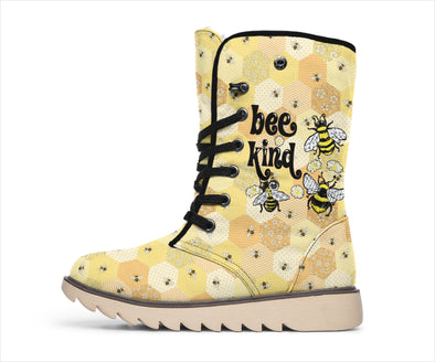 Bee Kind Plaid Polar Boots
