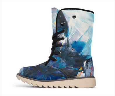 Watercolor Wolf Polar Boots