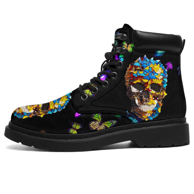 Skull Butterflies All-Season Boots