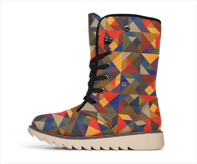 Tribal Colourful Polar Boots