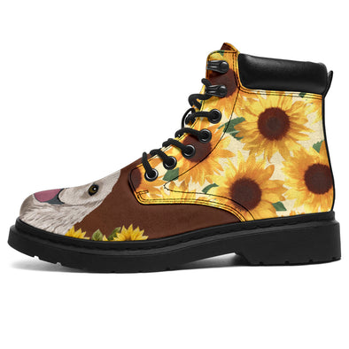 Cocker Spaniel Dog Sunflower All-Season Boots