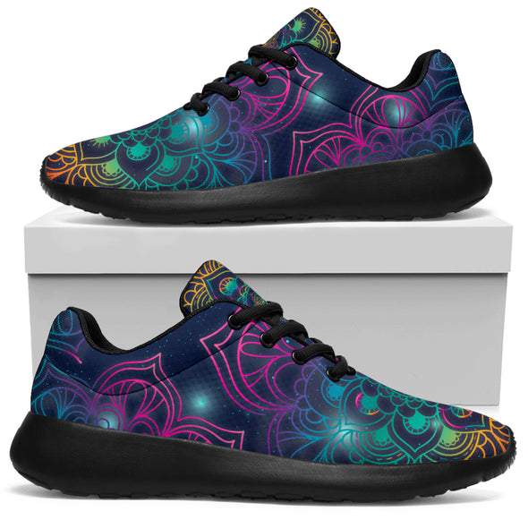 Colorful Yoga Peace Love And Light Sneakers