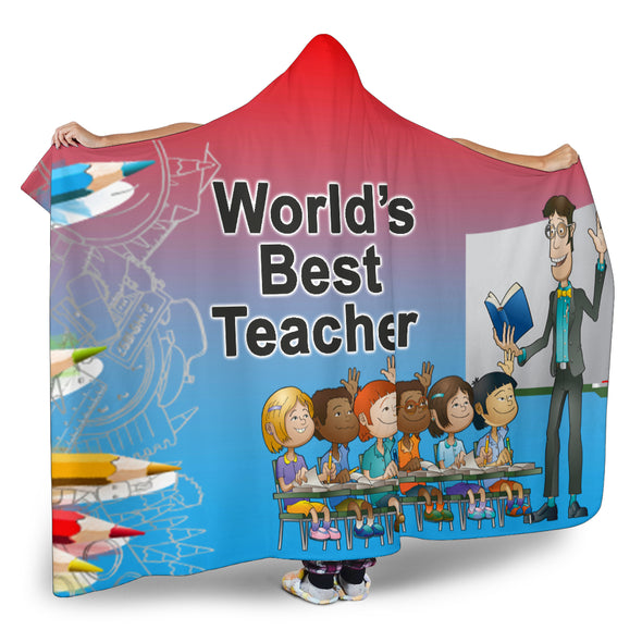 Best Teacher Hooded Blanket