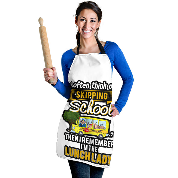 I'm the Lunch Lady - Apron Royal Blue