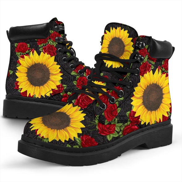 In a world full of roses be a sunflower All-Season Boots