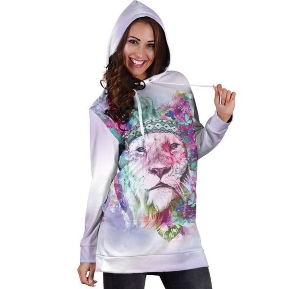Hippie Lion Hoodie Dress