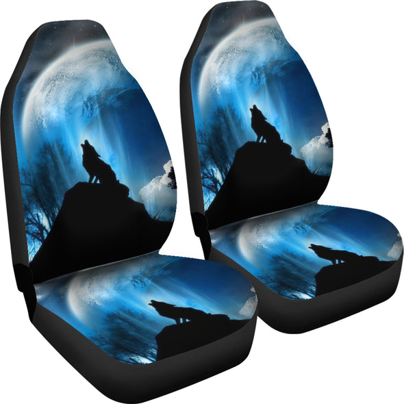Wolf Howling Car Seat Covers
