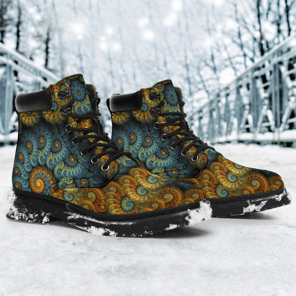 Fractal Mandala All-Season Boots