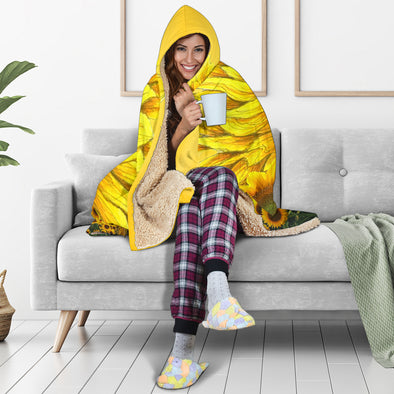 Sunflower Hooded Blanket