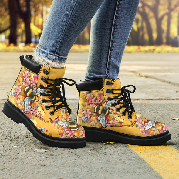 Flower Honey Bee All-Season Boots