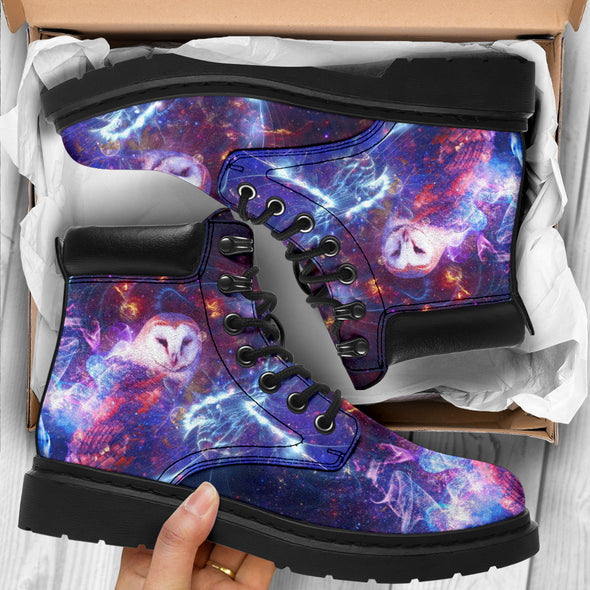 Abstract Owl Galaxy All-Season Boots