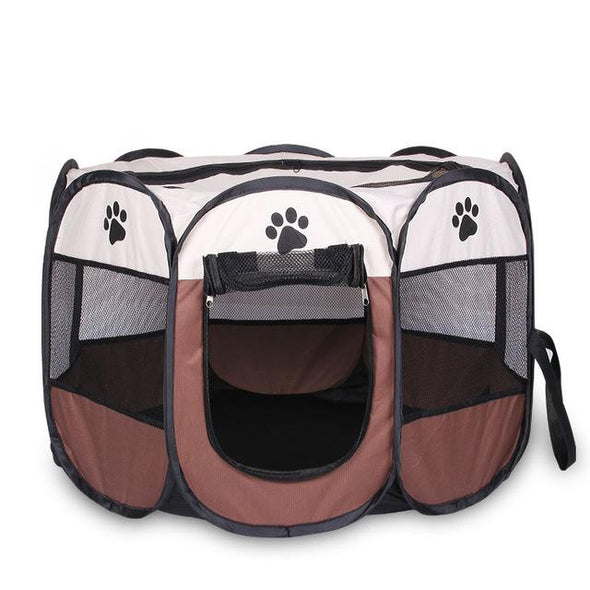 HOT Portable Folding Pet Tent Dog House Cage Dog Cat Tent Playpen Puppy Kennel Easy Operation Octagonal Fence Outdoor Supplies