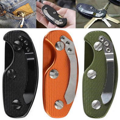 Keychain - Multifuction Keychain Tools Folding Keys Organizer EDC Holder Pocket Aluminum Key Bar EDC Outdoor Survival Tool