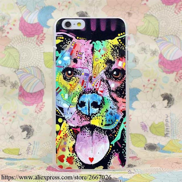 Lavaza High Quality Phone Cases Pitbull Hard Transparent Cover Case For IPhone X 10 8 7 6 6S Plus 5 5S SE 5C 4 4S Hot Sale