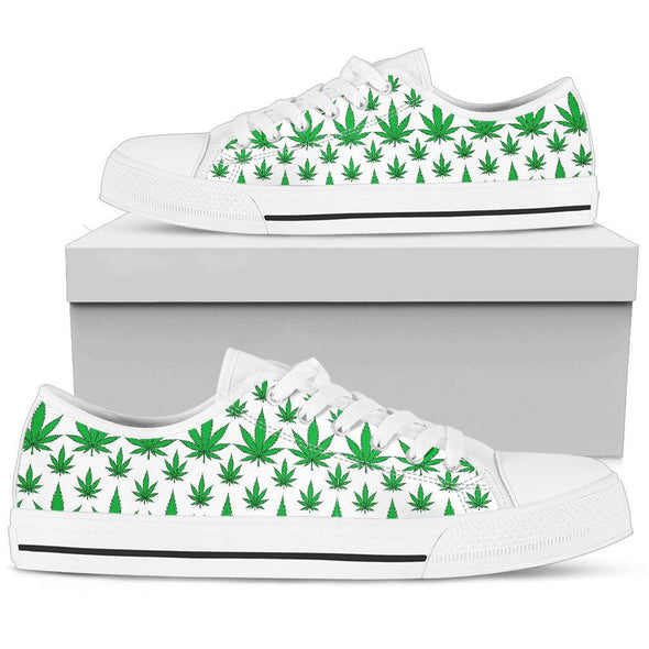Lowtop - Weed - Men's Low Top Shoe White