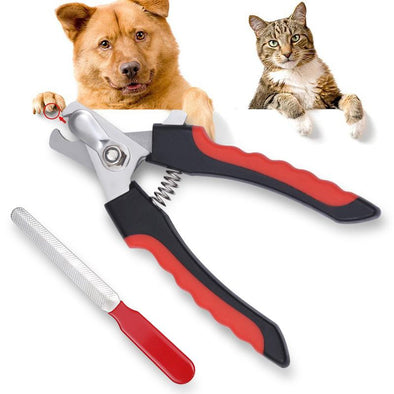 Pet Dog Cat Nail Claw Cutter Clipper Trimmer Scissors With Nail File Nail Art Tools Random Color