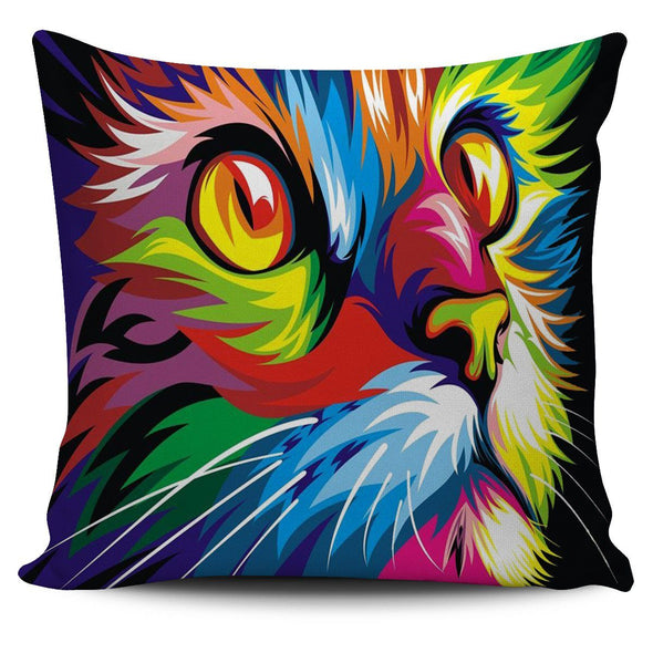 Pillows - Colorful Cat - Pillow Covers