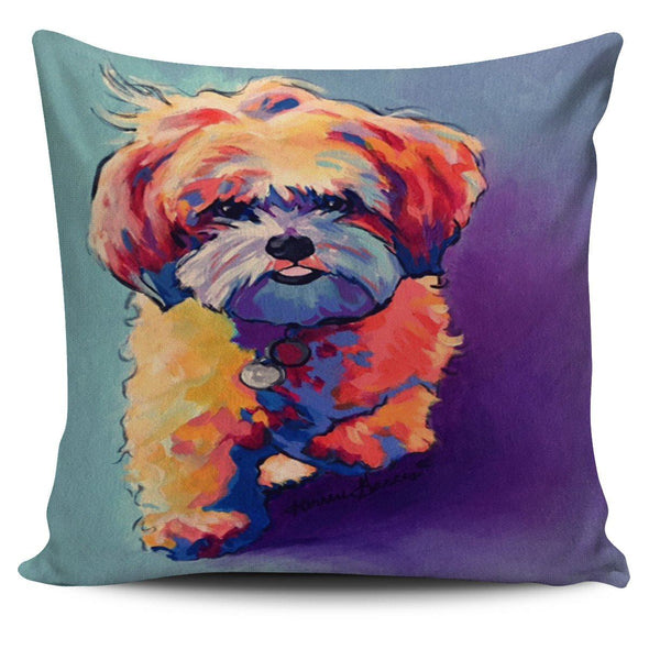 Pillows - Colorful Dog Art - Pillow Covers
