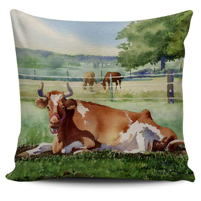 Pillows - Cow On Farm - Pillow Covers