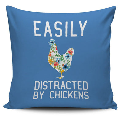 Pillows - Easily Distracted By Chickens - Pillow Covers