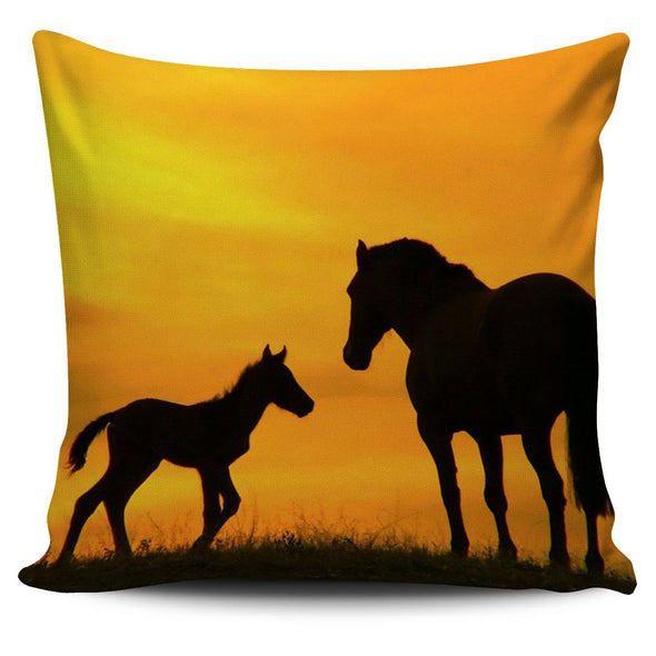 Pillows - Horse Mom And Baby - Pillow Covers
