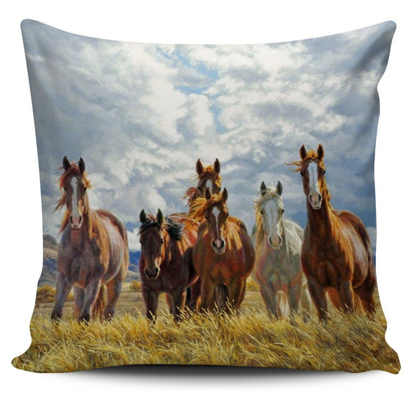 Pillows - Horses In A Field - Pillow Covers