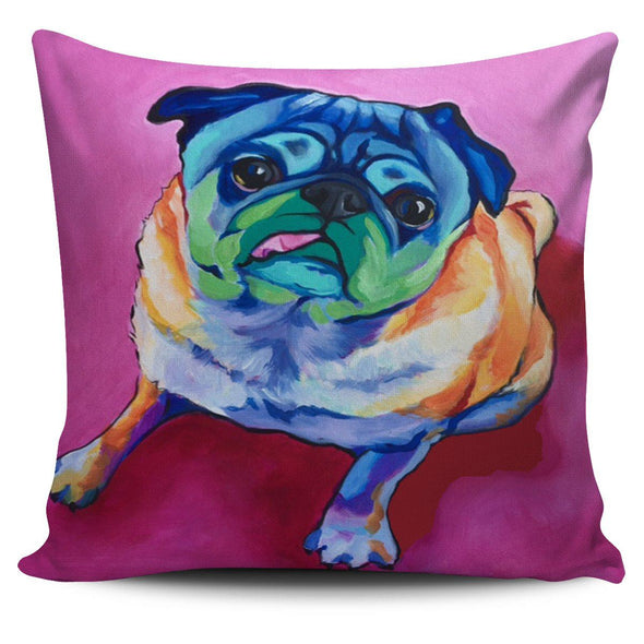 Pillows - Pug Art Painting - Pillow Covers