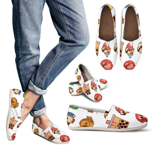 Shoes - Bulldog Pattern Casual Shoes