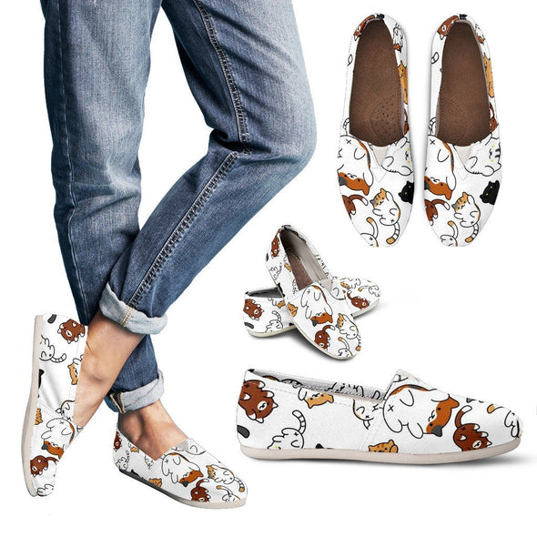Shoes - Cat Pattern Casual Shoes