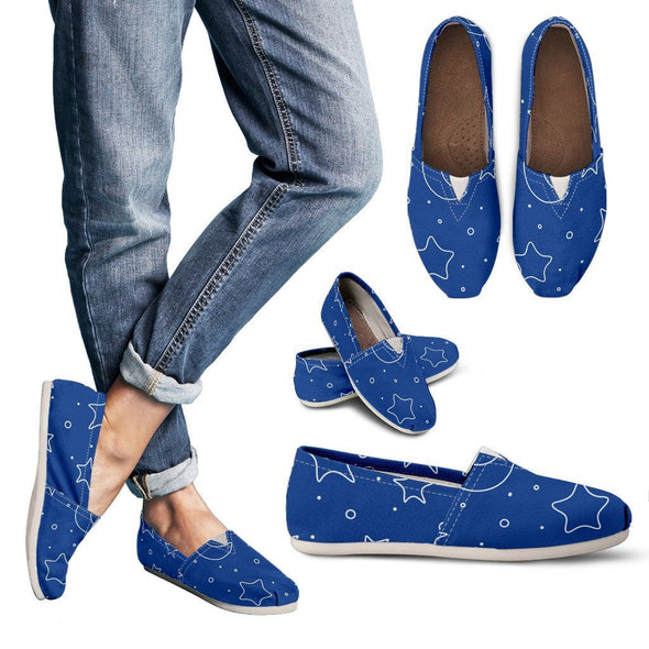 Shoes - Galaxy Pattern Casual Shoes