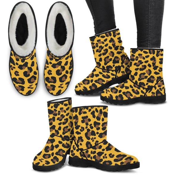 Shoes - Leopard Faux Fur Boots