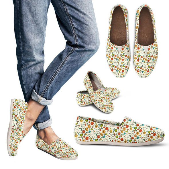 Shoes - Scientist Pattern Casual Shoes