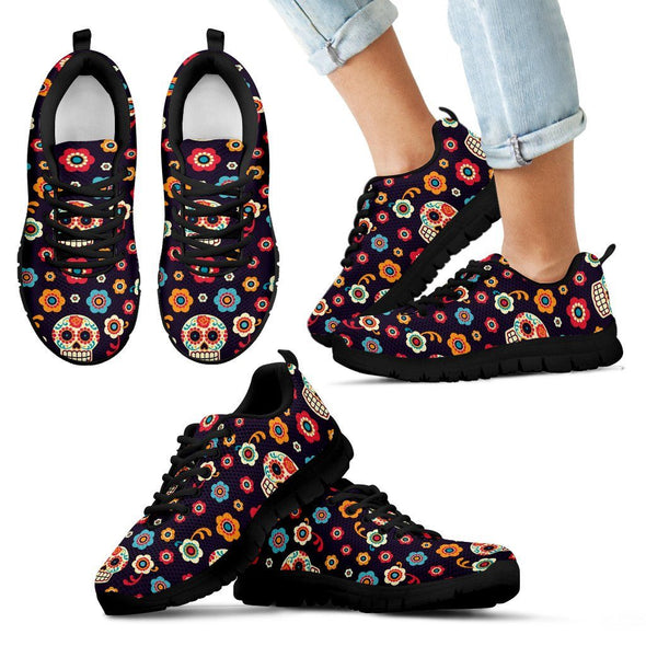 Shoes - Sugar Skull Floral Sneaker