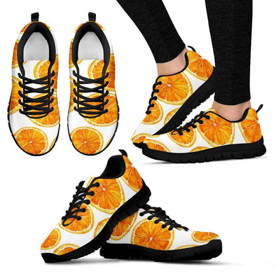 Shoes - Women's Orange Sneakers
