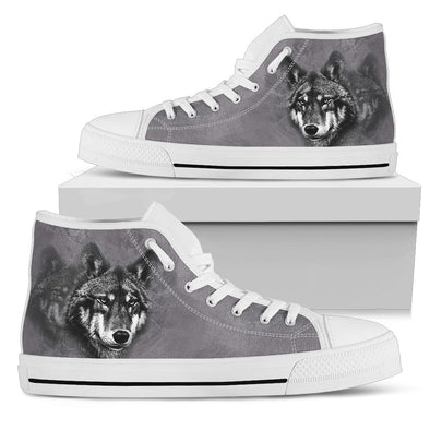 Wolf - Men's High Top - White
