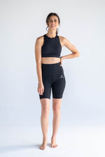Black Shorts + Sports Bra Two-Piece Set