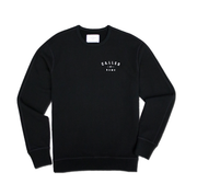 CALLED BY NAME - Small Print | Black Crewneck Sweatshirt