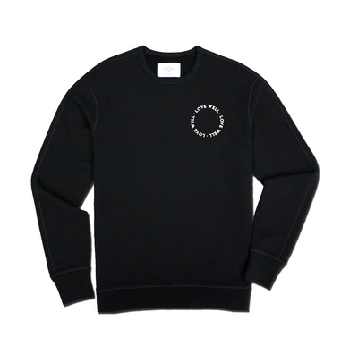 LOVE WELL | Black Crewneck Sweatshirt