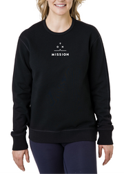 ON A MISSION | Black Crewneck Sweatshirt