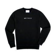 SET FREE | Black Crewneck Sweatshirt