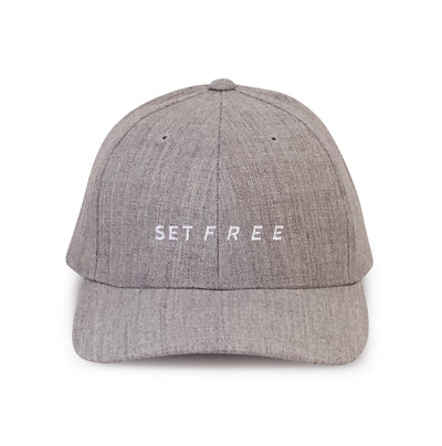 SET FREE | Grey Snapback Hat