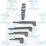 Miller Fiber Optic Laryngoscope with 4 Blades & Metal Body Surgical Instruments