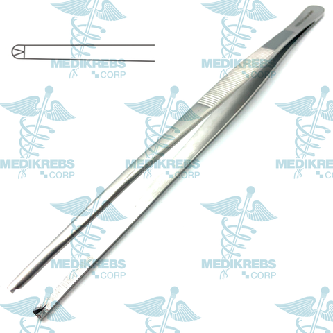 Tissue and Dressing Forceps 1 x 2 Teeth 14 cm