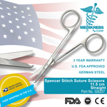 Spencer Stitch Suture Scissors 11.5 cm Straight Surgical Instruments