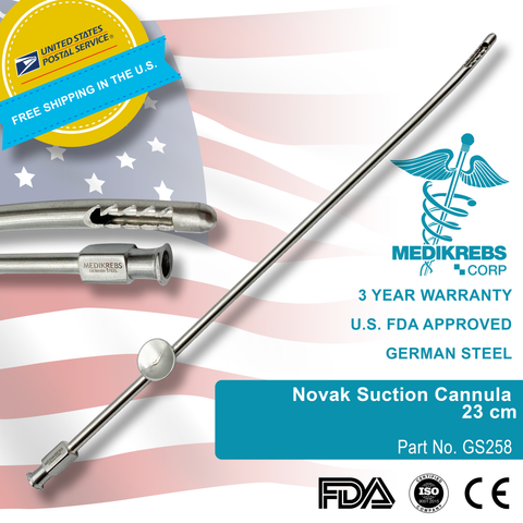 Novak Suction Cannula 23 cm Surgical Instruments