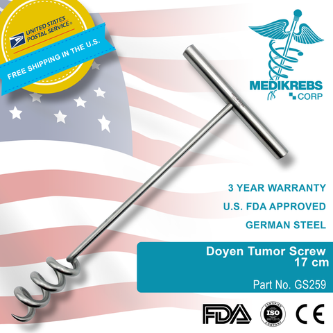 Doyen Tumor Screw 17 cm Surgical Instruments