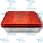 "Aluminum Sterilization Tray Case with Double Filter Holder 18"" x 11"" x 5"" (46 x 28 x 13 cm) Surgical Instruments"