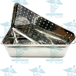Stainless Steel Sterilization Tray 14'' x 7'' x 4.5'' (35 x 20 x 12 cm)
